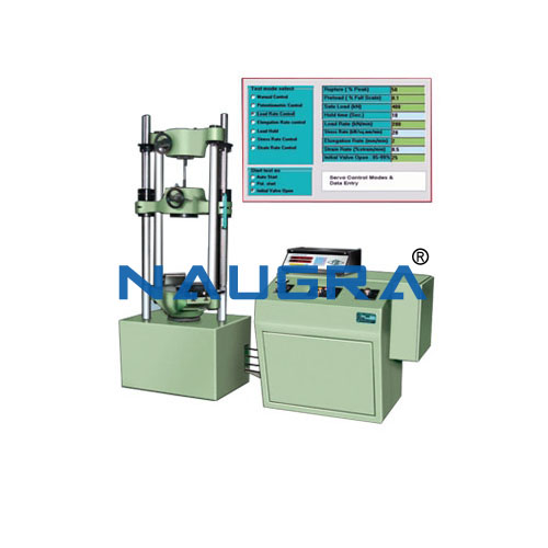 Servo Machine Test stand for machines include control software